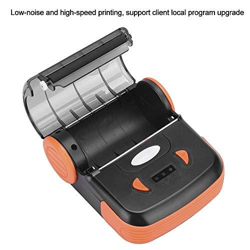 ASHATA thermische bonnenprinter, draagbare USB thermische printer Bluetooth thermische bonnenprinter, ondersteuning voor een verscheidenheid aan afhaalsoftware, voor levering in de supermarkt(EU)