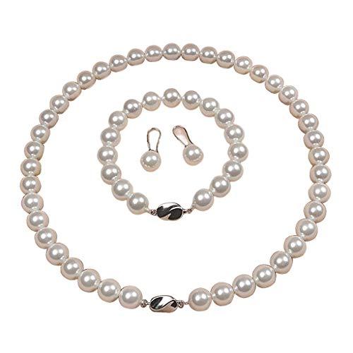 #N/A/a Conjunto de Joyas de Collar de Cuentas de Concha Natural para Lady Women