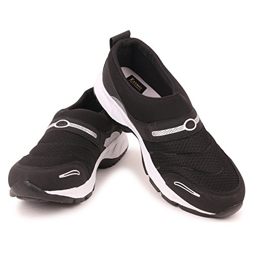 Extavo Men Big Size Casual Black Running Sports Shoes 13 UK