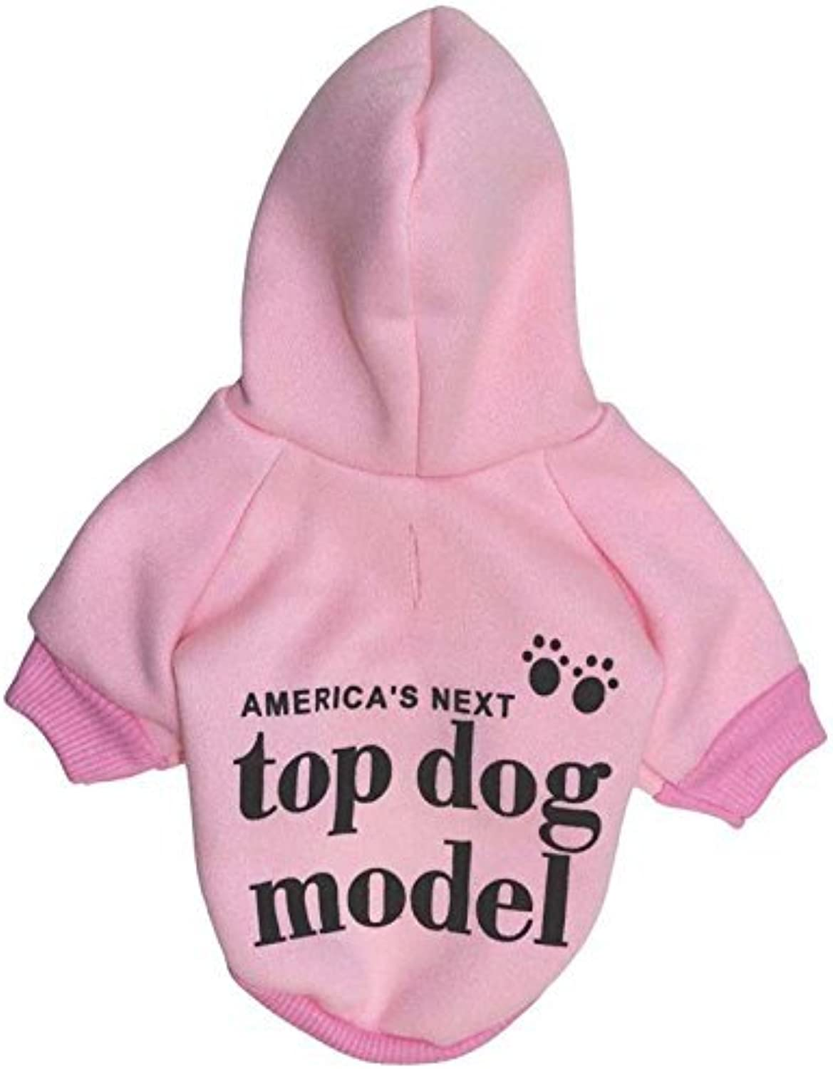 Doggy Costume Pet Supplies Misc Pet Clothes Dog Clothing Fleece Cloth with Cap Small Dog pet tShirt Autumn and Winter Models (color   Red, Size   L) Pet Dog Clothes (color   Pink, Size   S)