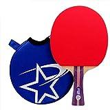 Raquette De Tennis De Table avec PoignéE Anti-DéRapante, Lame en Bois EntouréE De Caoutchouc, Palette De Ping-Pong pour DéButant