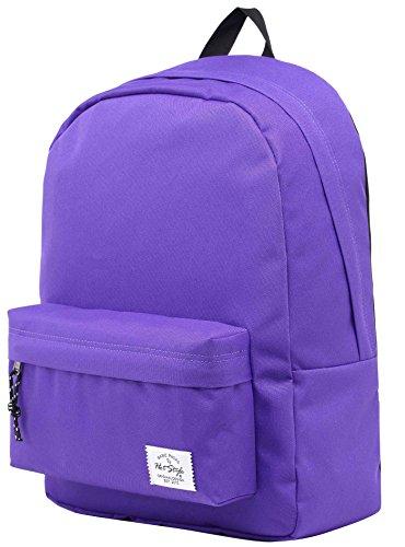 Hotstyle SIMPLAY Mochila Escolar Clásico, 44x30x12,5cm, Violeta Oscuro