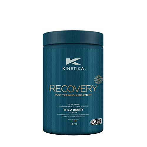 Kinetica Recovery Powder, Wild Berry, 20 Servings, 1.5kg, Post Exercise Hydration, Muscle Repair and Energy Store Replenisher