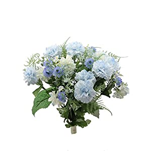 Admired By Nature Artificial Flower Bush, LT.Blue-carnation
