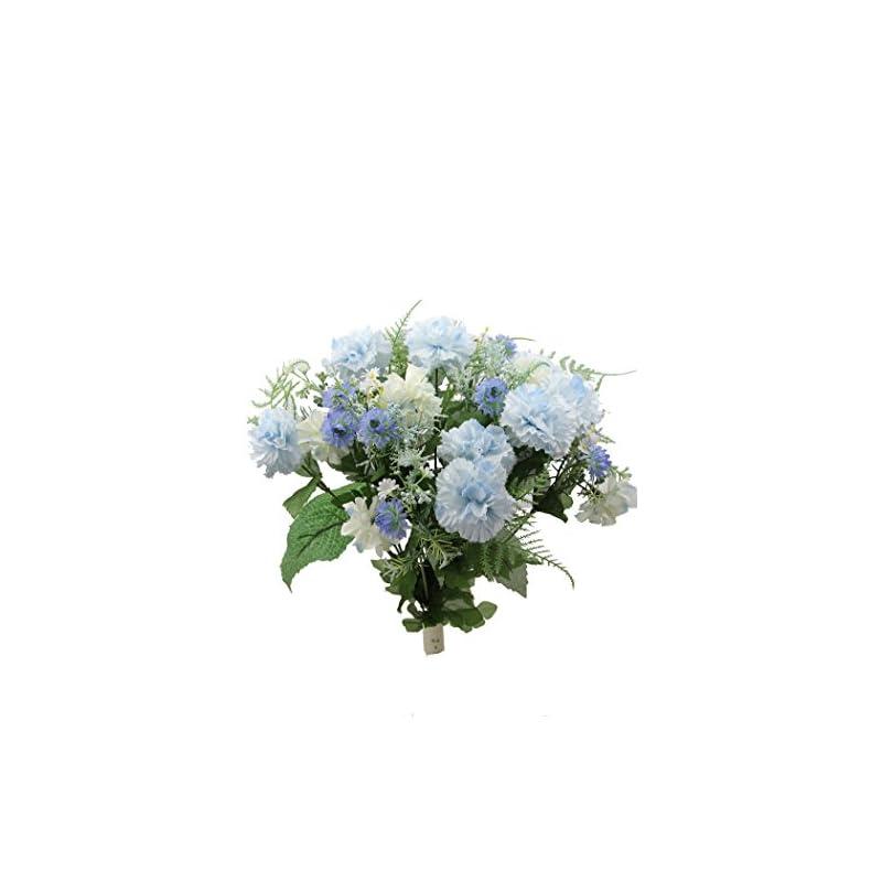 silk flower arrangements admired by nature artificial full blossoms bush for home, wedding, restaurant & office decoration arrangement