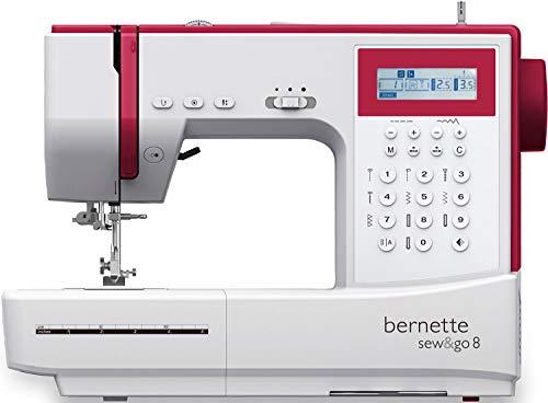 Bernette Sew&GO8 - Macchina da cucire per computer con 197 programmi di cucito, braccio libero, display multifunzione, cucito, patchwork, trapuntatura