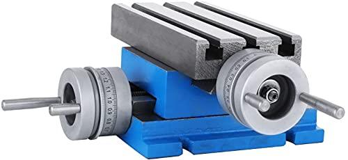VEVOR MX-75 multifunktions Fräs-Arbeitstisch 185 x 100 mm Fräsen Arbeitstisch X 80 mm Y 75 mm Kreuztisch Tischbohrmaschine für Bohr- und Fräsmaschinen (MX-75)