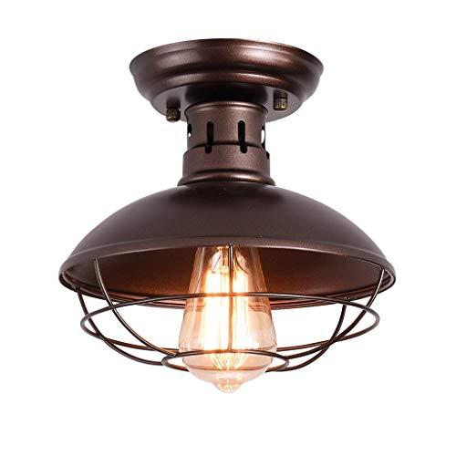 CHRISTI Lámparas Colgantes de lámpara araña Restaurante Hierro Forjado Lámpara Techo Adecuada para la Sala Estar Iluminación Corredor Dormitorio [Energy Class A +]