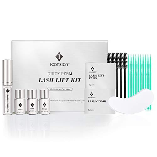 ICONSIGN kit rehaussement cils professionnel lash lift 3-7 Minutes Quick Perm Lotion Cils Naturels Salon Professionnel Artiste Cils