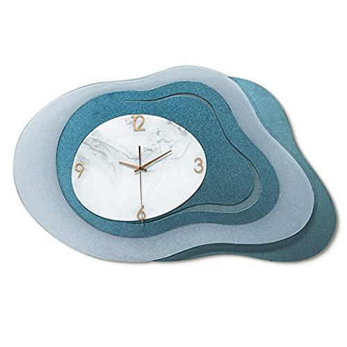 LZL Reloj de Pared de acrílico 27in no Marcado, Reloj de Pared con batería silenciosa con Cubierta de Vidrio HD Frame para niños (Color : A)