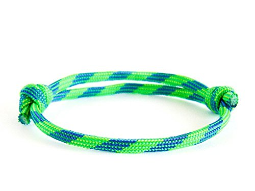 Bracelet Nautical Gifts for Men and Women Jewelry of Paracord Adjustable Rope One String No Buckle Party Favors Green