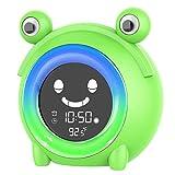 Kids Alarm Clocks, Digital Wake Up Clock, Children's Sleep Trainer with 5 Colors Changing Light, Bedside Clock with 5 Alarm Sounds, Wake up Light, Sound Machine for Students Boys Girls Bedroom