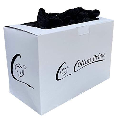 Cotton Prime 100 x Probiersocken, Probierstrümpfe in Spenderbox, 20 den, schwarz, One size, für Damen und Herren