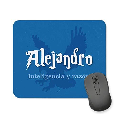 Kadoo Regalos Alfombrilla de Ratón Personalizada Friki Niño Mago con Nombre (Aguila)