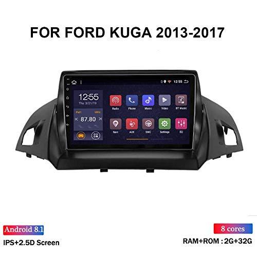 Für Ford Kuga 2013-2017 Autoradio GPS-Navigationssystem Satellite Navigator Spieler Tracker WiFi Touch Screen Spiegel Link-Lenkrad-Steuerung Bluetooth