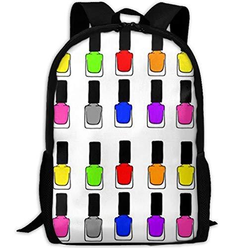 Wfispiy Regenbogen Nagellack stilvolle Laptop Rucksack Schulrucksack Bookbags College Taschen...