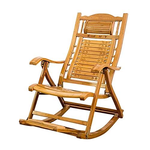 Tedyy, sedia a dondolo pieghevole da giardino reclinabile per adulti lettino da sole regolabile