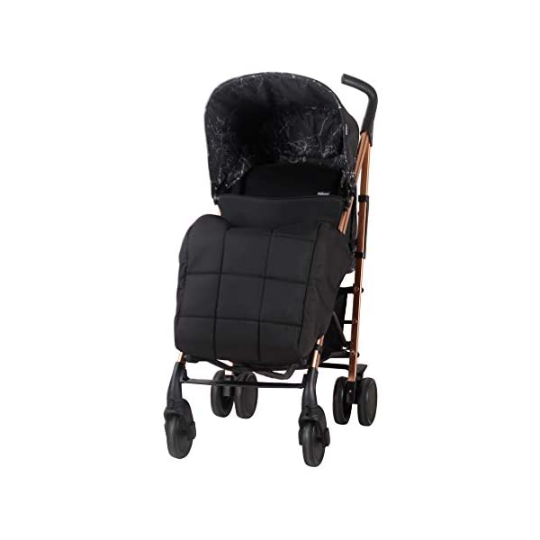 My Babiie Dreamiie by Samantha Faiers MB51 Black Marble Stroller My Babiie Suitable from birth to maximum 15kg Extendable 3 position canopy Lockable swivel front wheels 4