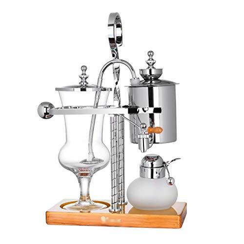 Vakuum-Kaffeebereiter Siphon Kaffeemaschine Set Coffee Siphon Technia Haushalt Belgischer Topf Royal Kaffeekanne, 2 Ausführungen (Farbe : A)