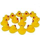 JTTJDB Guaren US 50-Pieces Float & Squeak Mini Rubber Duck Baby Bath Ducky Sound Shower Toys for Kids