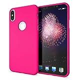 NALIA Cover Neon compatibile con iPhone X XS, Custodia Protezione Ultra-Slim Neon Case Protettiva Morbido Cellulare in Silicone Gel, Gomma Telefono Smartphone Bumper Sottile, Colore:Pink
