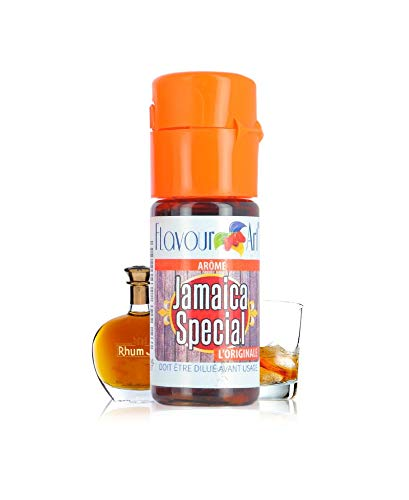 Flavour Art Aroma alimenticio concentrado Jamaica Special, 10 ml, Sabor a ron, Líquidos para todos...