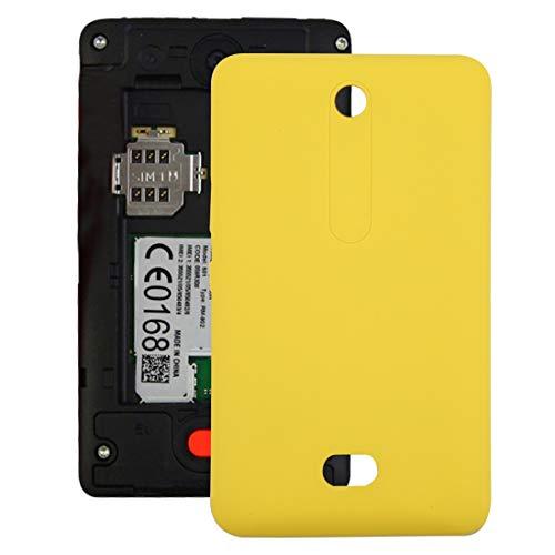 LYYCEU Copertura Posteriore della Batteria for Nokia Asha 501 (Color : Yellow)