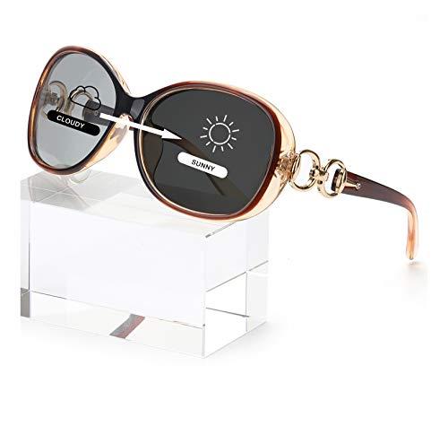 FIMILU Classic Oversized Frame Polarized Photochromic Sunglasses Women for...