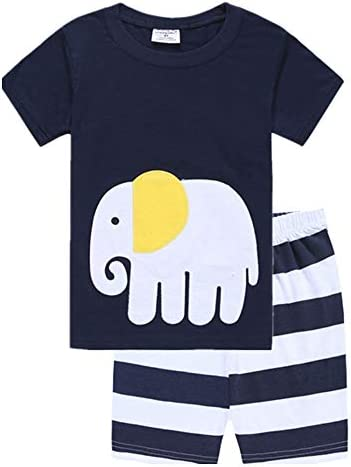 90cm,Monstre Vert Fansu Ensembles de Pyjama B/éb/é 2 Pi/èces Ensembles 2-7 Ann/ée Gar/çon Fille Coton Imprim/é de T-Shirt /à Manches Pyjamas de Bande Dessin/ée sous-V/êtements