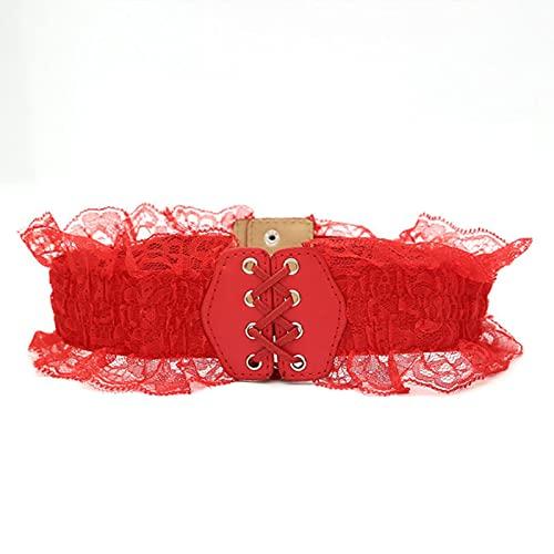 BXing Cinturones elásticos de Encaje a la Moda para Mujer para Vestido de NoviaCinturones de Cintura elásticosAnchos paraMujer