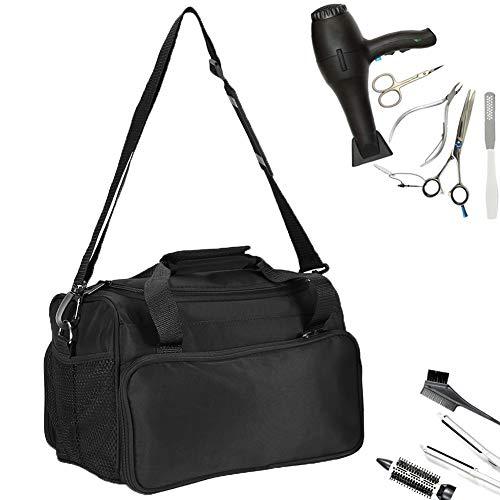 Tragbare Friseurtasche Salon Werkzeugtasche Große Kapazitäts mit Schultergurt Haar Stylist Tasche für Ausrüstung Schwarz
