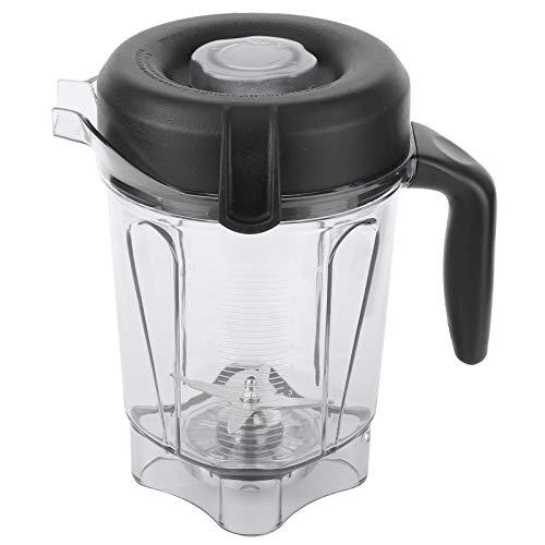 Recipiente para licuadora, recipiente transparente para licuadora de alimentos de 2 l con cuchilla, tapa, accesorios de repuesto aptos para recipientes Vitamix de 64 oz, compatibles con máquinas