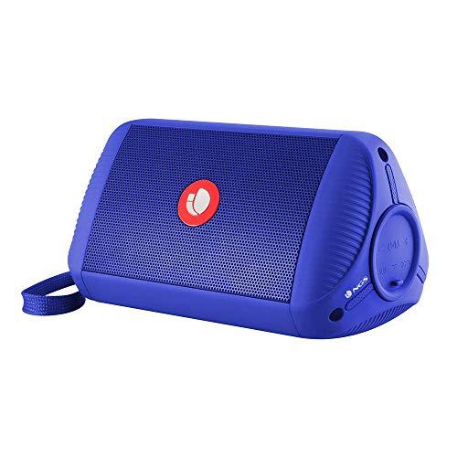 NGS Roller Ride Blue Altavoz Bluetooth Portátil 10W con Entrada de Audio Auxiliar y Micro SD, Waterproof IPX4, Azul