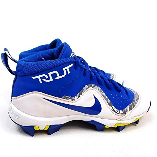 Nike New Youth Force Trout 4 Keystone Baseball Cleats Game Royal/White Size 11C