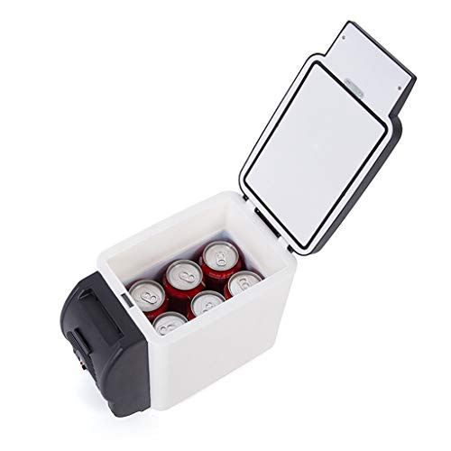 ZY Car refrigerator Tragbarer Mini-Kühlschrank, Kühlschrank 6l Auto-Kühlschrank, 12 V Gleichstrom / 220 V Wechselstrom, Thermostat, Aufbewahrungsort für Arzneimittel, Kosmetik-Kühlschrank