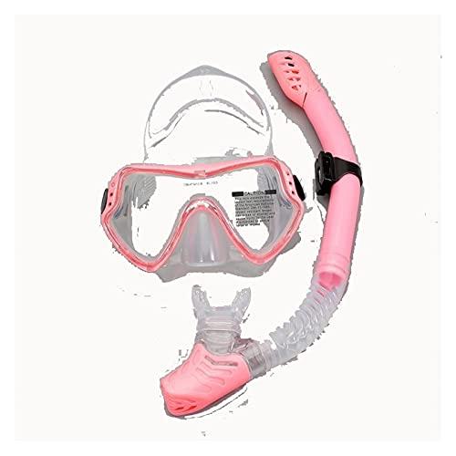AWJ Esnórquel Completamente seco con Gafas de Buceo de Vidrio Templado antivaho Equipo de Buceo portátil Adecuado para Adultos y Adolescentes