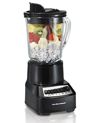 Hamilton Beach Wave Crusher Blender with 14 Functions & 40oz Glass Jar for Shakes and Smoothies, Black (54220)