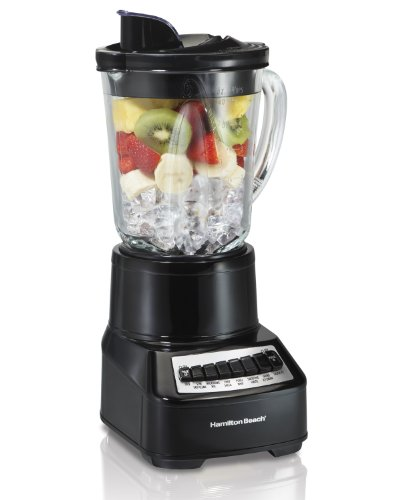 Image of Hamilton Beach Wave Crusher Blender with 14 Functions & 40oz Glass Jar for Shakes and Smoothies, Black (54220): Bestviewsreviews
