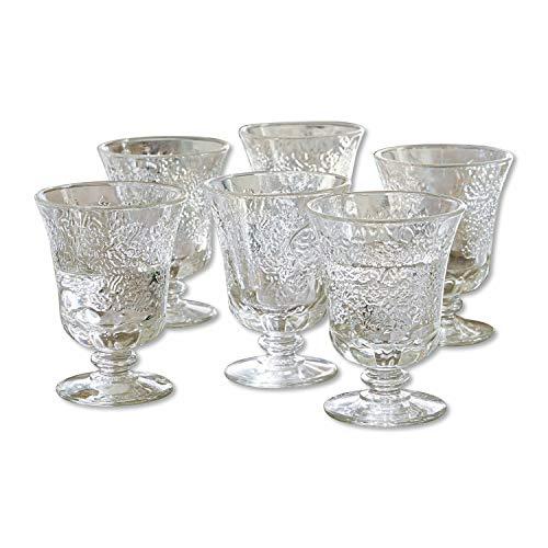 Loberon Wassergläser 6er Set Abèle, Glas, H/Ø ca. 12,2/9,4 cm, klar