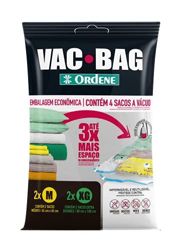 Conjunto VAC BAG 4 Sacos, 2 Médios e 2 Extra Grande, Ordene