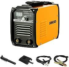 SUNCOO IGBT ARC Welder Machine 200AMP DC Stick Inverter Welder MMA200, Dual Voltage 110/220V, LED Digital Display, Light Weight and Mini Size Portable Welding Machine,Orange