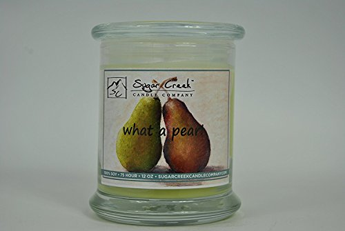 What a Pear Natural Scented Soy Wax 12oz Candle. Aromatherapy Soy Candles Burn Cleaner ~ Longer ~ Non-Toxic ~ 100% Yinzer Made in USA. Used For Special Occasions - Sugar Creek...