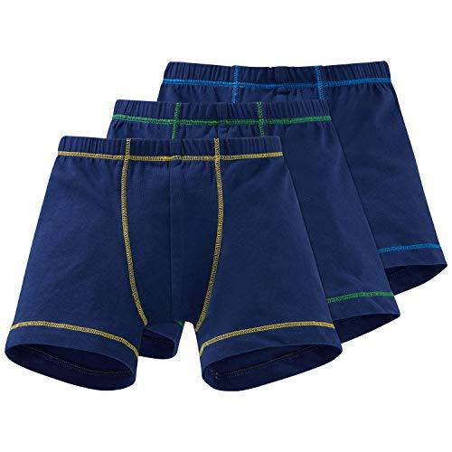 Schiesser Jungen 3pack Hip Shorts Boxershorts, Mehrfarbig (Sortiert 901), 104 (3er Pack)