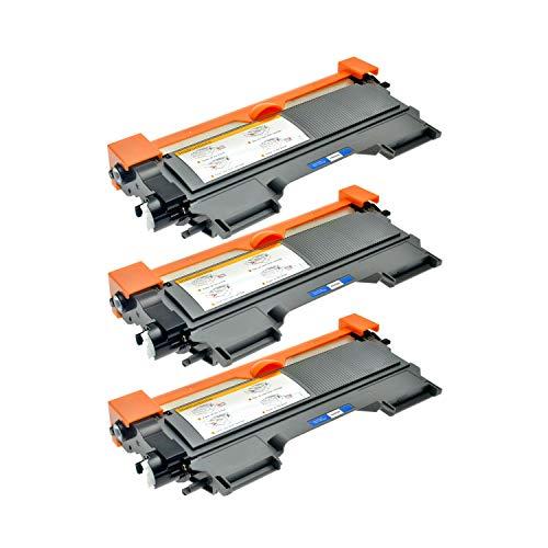Logic-Seek 3 Toner kompatibel für TN-2220 TN-2010 Brother MFC-7360N HL-2240DR L HL-2250DNR HL-2270DW HL-2130 DCP-7055 DCP-7057 HL-2132 DCP-7055 W HL-2130 R - XXL Füllmenge, Schwarz je 5.200 Seiten