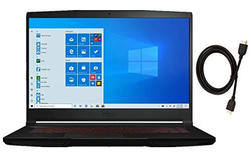 MSI GF63 Thin 15.6' FHD Premium Gaming Laptop | Intel 6-Core i7-10750H | 16GB RAM | 512GB SSD | NVIDIA GeForce GTX 1650 Max-Q | Backlit Keyboard | Windows 10 | with High Speed 6FT HDMI Cable Bundle