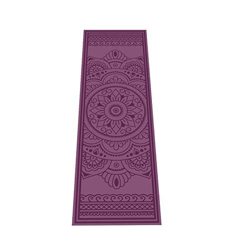 Love Generation Yoga Alfombrilla con impresión | PVC resistente y fácil de limpiar | muchas impresiones | 183 x 61 x 4 mm | para yoga, pilates y fitness (Magic Carpet Berenjena)