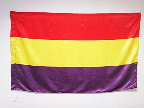 AZ FLAG Bandera ESPAÑA Republicana SIN Escudo 150x90cm en Raso para Palo - Bandera DE LA Republica ESPAÑOLA 90 x 150 cm: Amazon.es: Jardín