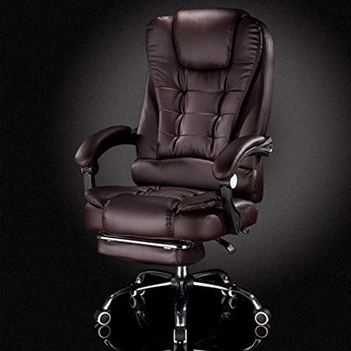 Home Küche Wohnzimmer Stühle Bürostühle Boss Stuhl Reclining Leder Freizeit Bürostuhl Massage Fußstütze Drehstuhl Chefsessel Computer Stuhl Startseite Multi-Color Optional ( Color : B1 , Size : B )
