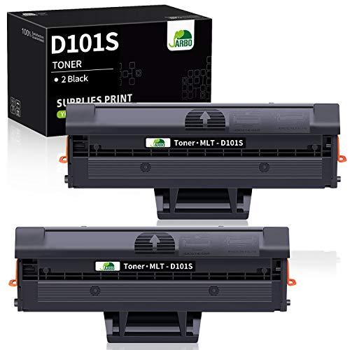 JARBO MLT-D101S Toner Compatibile per Samsung MLT-D101S D101S Samsung ML2160 ML-2164 ML2165 ML2165W ML2168 SCX-3400 SCX3405W SCX3405FW SCX3405F SCX3405 SCX3400F SCX300 SF760P, Nero, Confezione da 2