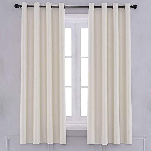 Yancorp - Cortinas opacas con textura para ventana, para dormitorio, sala de estar, bloqueo de luz, insonorizadas, bloquea el calor,...